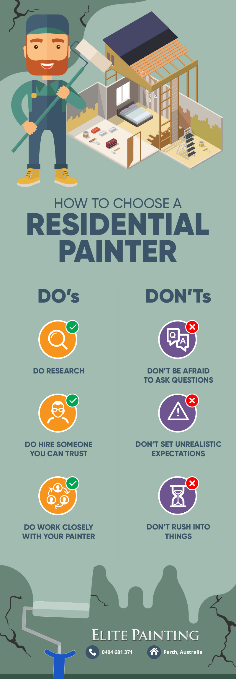 choose residential painter infographic